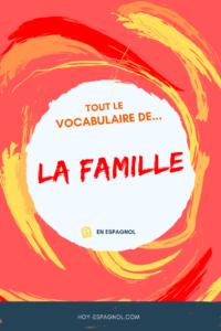 Le vocabulaire de la famille en espagnol