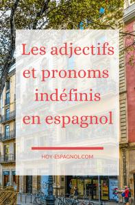 Les adjectifs et pronoms indéfinis en espagnol - Hoy Espagnol