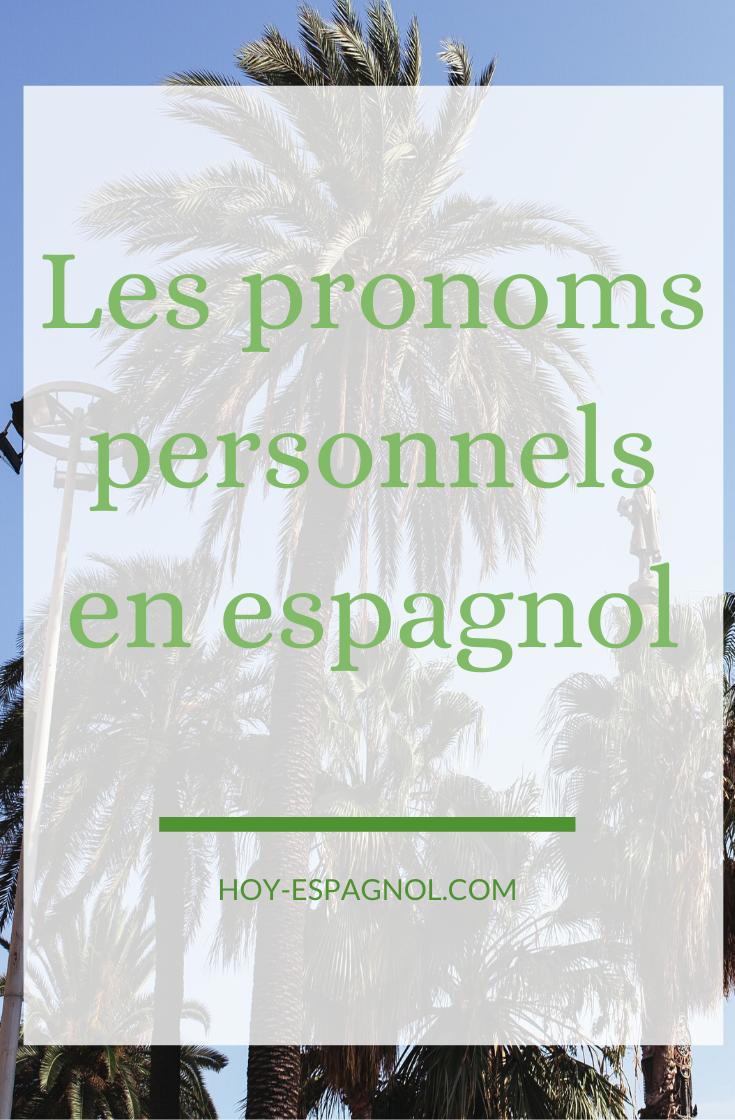Les pronoms personnels en espagnol